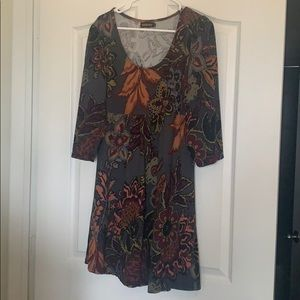 Fall Knit dress with all fall colors!